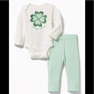 """Lucky & Loved"" Infant Two Piece"